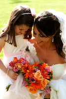 Bride with Flower Girl Portrait