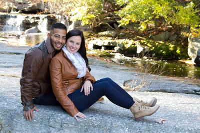 Fall engagement photo at Minnewaska State Park inkirhonkson NY
