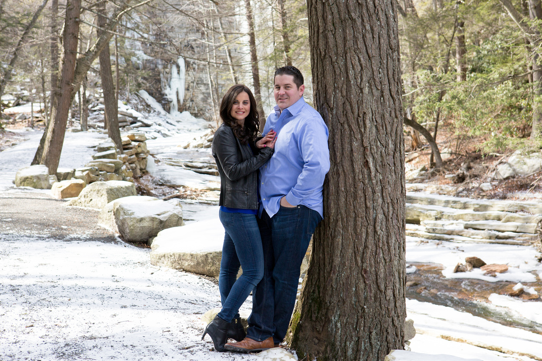 Winter Engagement Photo - Minnewaska State Park