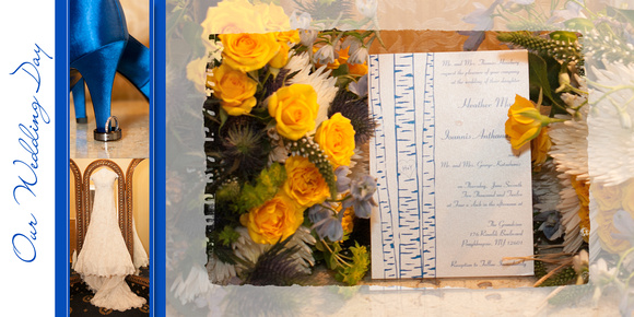 Hudson Valley Wedding Album Pages - Grandview Poughkeepsie