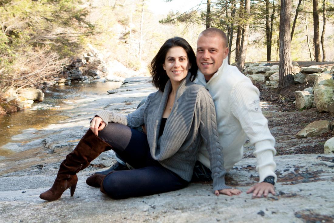 Winter Engagement Photo - Minnewaska State Park